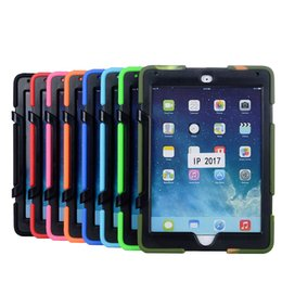 Wholesale Ipad Covers Silicon - New Ipad 2017 9.7 Waterproof Shock Proof Case Defender Back Cases Covers Protecting Hybrid Silicon PC Shell No Retail Package Free DHL