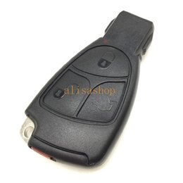 Wholesale Replacement Mercedes Keys - Replacement 3 Buttons M. Benz Smart Key Case fob Case Shell With Battery Holder clip For M. Benz car key shell
