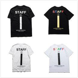 Wholesale Staff Animal - Marcelo Burlon T-shirts Men Women Italy Milan RODEO MAGAZINE STAFF Mens Cotton Top Tee T Shirt Homme Marcelo Burlon T-shirts