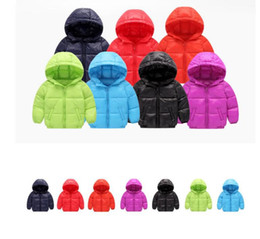 Wholesale Hoodies For Baby Girls - children's winter jackets Kids Coat Baby Winter Jacket For Girls Outerwear Hoodies Boy Coat kids Jacket Outerwear 7 color LJJK813
