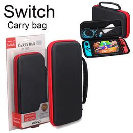 cajas de juegos nintendo Rebajas Para Nintendo Switch Game Bag Estuche portátil Hard EVA shell Bolsa portátil de alta calidad Bolsa protectora Bolsa Interruptor SCA268