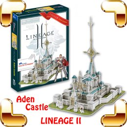 Wholesale 3d Puzzle Castle Building Toy - New Arrival Gift Lineage 2 Online Game Aden Castle 3D Model Building Puzzle PC Game Structure Collection DIY Built Fun Smart Toy