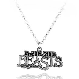 Wholesale Jewelry Findings Links - Wholesale-Hot Movie Jewelry Fantastic Beasts And Where To Find Them Letter Logo Pendant Necklace Free Shipping