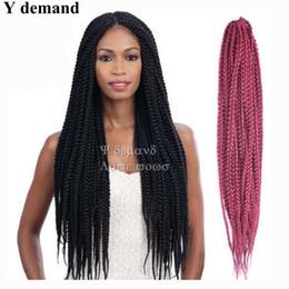 Wholesale Wholesale Braids Senegal - 18inch Senegalese Twist Senegal Box Braid Hair Synthetic Hair Extensions havana manbo twist Crochet Twist Hair