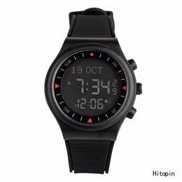 Wholesale Azan Alarm Clock - Wholesale-Russian Hotsell Automatic Man azan alarm watch for islamic prayer time Full Black color Azan Watch Prayer clock free shipping