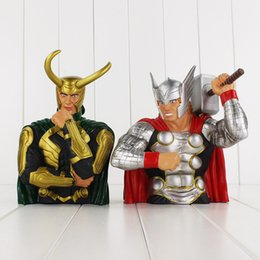 Wholesale Loki Figure - The Avengers Thor Loki Toy Piggy Bank PVC Action Figure Collection Model Toy Free shipping