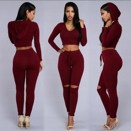 Wholesale Leisure Yoga Trousers - Summer Leisure Time Even Hat Jacket Trousers Ma'am Holes Twinset Section Pants sportwear woman tracksuit hoodies tops lacing Short