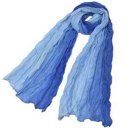 Wholesale Korean Silk Shawl - Wholesale-2015 hijab from india women print adult spring winter new korean Fashion Gradient Color Scarf Shawl Warm Soft Cotton Silk