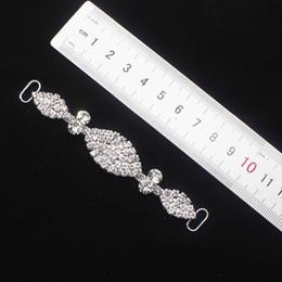 Hebilla de cristal oval online-10 unids Forma Oval de Metal Rhinestone de Cristal Bikini Conectores / Hebilla de Cadena Para la Natación Wear Bikini Decoración