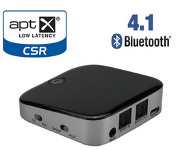 Wholesale Toslink Receivers - 2 in 1 Bluetooth Transmitter Receiver aptx Wireless Stereo Audio Adapter Bluetooth Receiver with TOSLINK SPDIF AUX 3.5mm