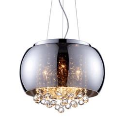 Restaurant deckenbeleuchtung online-Moderne glas lampenschirm kristallkugeln pendelleuchte schmetterling wohnzimmer deckenleuchte esszimmer pendelleuchte restaurant kronleuchter