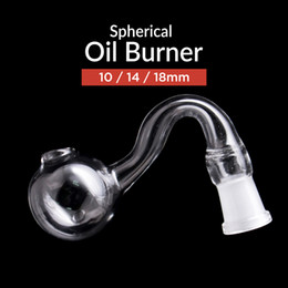 Wholesale Cheap Glass Tobacco Pipes Wholesale - Bend Glass Oil Burner for Water Pipes Tobacco Pipe and Smoking Tobacco Pipes with 10   14   18mm Joint Cheap Hand Pipe