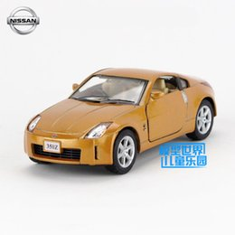 Wholesale Toys 34 - Free Shipping 1:34 Scale Nissan 350Z Classical Educational Model Pull back Diecast Metal toy car For Collection Gift