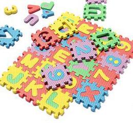 Alfabeto de espuma de brinquedos on-line-Atacado-novo clássico crianças brinquedos piso de espuma aprendendo brinquedo educativo alfabeto número quebra-cabeça mat para crianças