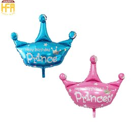 Wholesale Large Wedding Balloons - 103*93Cm Aluminum Balloon Birthday Balloon Decoration Large Size Creative Princess Crown Birthday Wedding Party Event Cartoon Decorations
