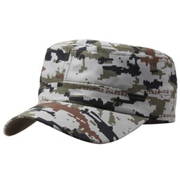 Wholesale Ball Poster - Wholesale- Marine Corps Hat Camouflage Flat Top Cap Men patriot Baseball Cap US Air Force Club Navy Poster Commando Hats W
