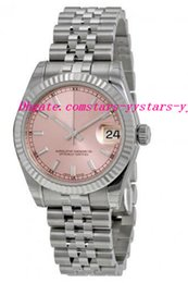 Wholesale Jubilee Wrist Watches - Top Quality Luxury Watches Pink Index Dial Jubilee Bracelet 18k White Gold Fluted Bezel Unisex Watch 31mm Wrist Watches
