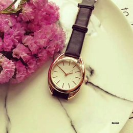 Wholesale Watch Straps For Sale - Hot sale Fashion watches women luxury brand Designer 32mm Leather Strap Quartz wrist watch For ladies girls Wristwatches best gift 2017