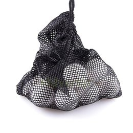 Wholesale Tennis Net Wholesale - Wholesale- Black Nylon Mesh Nets Bag Pouch Golf Tennis 48 Balls Carrying Holder Hold Ball Storage Training Aid Durable Outdoor Sports