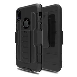 Гибридный робот combo phone case онлайн-Черный гибридный ударопрочный жесткий чехол для Samsung Galaxy Note8 S8 Plus / iphone X 8 7 6 6 S Plus робот Combo телефон Case