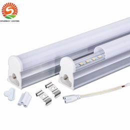Wholesale t5 led base - Ultra bright T5 to T8 led tube 96pcs SMD2835 1200mm 4ft 22W LED tube light fluorescent Led tubes 85-265V T8 body T5 base