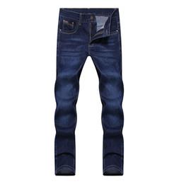 Wholesale Wholesale Mens Skinny Jeans - Wholesale- 2016 mens straight skinny denim jeans pants fashion slim fit trousers 28-38 JPYG153