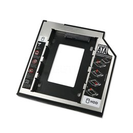 Wholesale Wholesale Optical Drive - Wholesale- Hot 2.5 HDD Case 9.5mm SATA to SATA Hard Drive Adapter 2nd HDD Caddy HDD Enclosure For Laptop CD DVD Optical Drive Bay