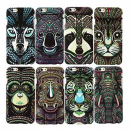 Wholesale Hard Case Cat Iphone - Animal PC Hard Coque For iPhone 5S SE 6S 6 Plus 7 7plus Phone Cases Capinha Elephant Fundas For iPhone 6S Case Cat Capa Plastic Shell