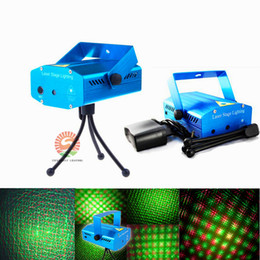 Wholesale Voice Model - Voice-activated & Auto Model 150mW Red and Green Mini Laser Stage Light Stars LED Effects Lighting for Bar Club Party Room Joyful Lights