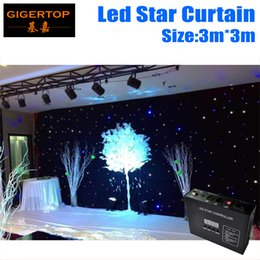 Wholesale dj stars - 3M*3M LED Star Curtain With Controller New&Hot Super Price RGB RGBW Color Mixing,LED Wedding Backdrops LED DJ Backdorps Linkable Support