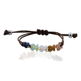 Wholesale Matches Charm - Free shipping promotion and bear stone woven rope bracelet fashion all-match