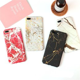 Wholesale Chrome Hard Cover - Luxury Chrome Marble Cases for iPhone 7 Matte Plastic Hard PC Cover for iPhone 6 6s 7 Plus Slim Back Case
