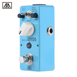 Wholesale Digital Reverb - AROMA AOV-5 Digital Reverb Guitar Effect Pedal 3 Modes True Bypass Aluminum Alloy Body Durable Guitar Parts & Accessories