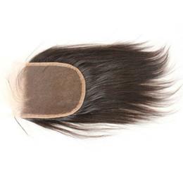 Wholesale Cheap Closure Hair - Brazilian Light Yaki Straight Closure Cheap Unprocessed Italian Yaki Closure 4x4 Bleached Knots Swiss Lace Hair Closure
