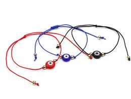 Wholesale Blue Evil Eye Charm - 10pcs lot Red String Lucky Bracelet Blue Evil Eye charms Adjustable Bracelet Gift
