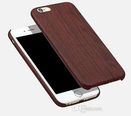 Wholesale Wood Iphone Bumper - For iPhone 7 7S plus Wood case Classic Cool Vintage PU wooden Pattern Design Durable Case Cover bumper for iPhone6 6S Plus 6