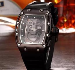 Wholesale Fashion Watchs - 2017 AAA High-quality Casual Fashion Skeleton Watches men Luxury brand Army Skull sport quartz watch invacta watch tag brand watchs
