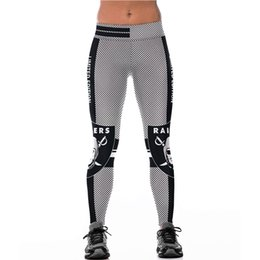 Wholesale Cheap Leggings Punk - Cheap Wholesale Sports Leggings for Women High Waist 3D Print Plaid Fitness Slim Knitted Punk Style Fashion Long Yoga Pants Autumn Active