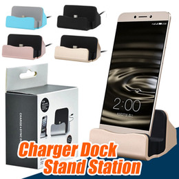 Wholesale Dock Android Phones - Universal Micro USB Charging Dock Stand Station Desktop Sync Dock Charger For Samsung HTC LG Android Smart Phone