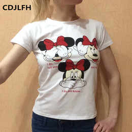 Wholesale Bell End - Wholesale- 2017 Newest France High-end Brand Harajuku Sexy Women Casual T Shirt Round Neck Short Sleeve Shirt Fashion Loose Blusa Top