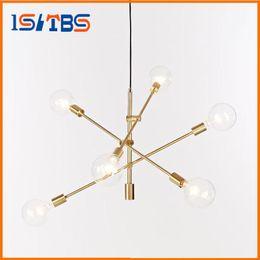 Wholesale Round Glass Lighting Pendants - Modern hanging lamp light LED dinning bed room bedroom foyer round glass ball black gold nordic simple modern pendant light lamp