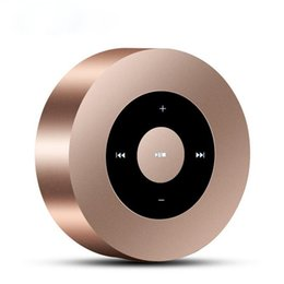 Wholesale Passive Mp3 - Newset A8 Portable Mini Bluetooth Wireless Speaker MP3 Player Support Hands Free Call Micro SD Card With Metal Case Passive Radiator