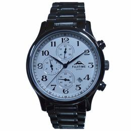 Wholesale Multifunction Quartz Movement - FUJITIME Fuji multifunction quartz watch six pin timing imported Movement Men's fashion watch
