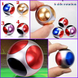 Wholesale Football Stress Balls - Newest Fidget Toy Football Round Shape Hand Spinner Metal Finger Stress Spinners Decompression Anxiety Toys 5 Bearings Ball Fidget Spinner