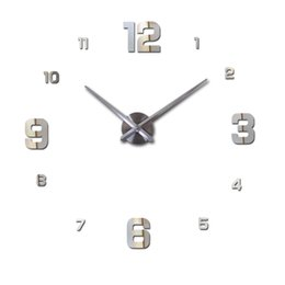 Wholesale Big Wall Clocks - Wholesale-new 2016 sale home decor circular wall clock modern big 3d diy acrylic mirror quartz sticker clocks watch gift free shipping