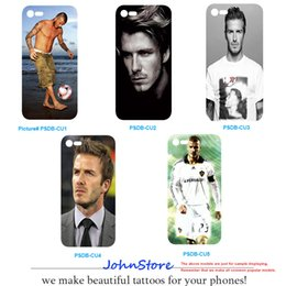 Wholesale David Iphone - Famous Soccer Star Real Madrid David Beckham Close-up Desgin Phone Case Bechkham Phone Cover For iPhone 6 6S 6-6S Plus 8 X 8Plus 7 7Plus