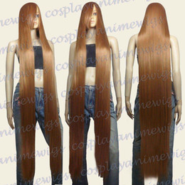 Wholesale White Wig Cosplay Long - 150cm Light Brown Heat Styleable Extra Long Cosplay Wigs 81_LLB