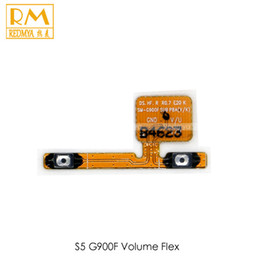 Wholesale Galaxy Volume Button - Original 100pcs lot Volume Flex Cable For Samsung Galaxy S5 G900 i9600 Volume Button with Power Key Connector Replacement Parts