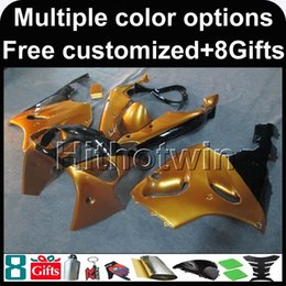 Wholesale 1997 Zx7r Body - 23colors+8Gifts GOLD Body motorcycle cowl for Kawasaki ZX-7R 1996-2003 96 97 98 99 00 01 02 03 ZX 7R 1996 2003 ABS Plastic Fairing