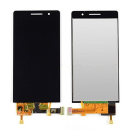 Wholesale Huawei P6 Free Shipping - High quality AAA For Huawei P6 LCD Display+Front Touch Screen Digitizer Glass Sensor Assembly +DHL shipping free